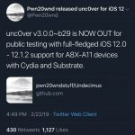 New version of jailbreak Unc0ver v3.0.0 beta 30 with full support for iOS 12.0-12.1.2 has been released