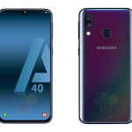 Samsung Galaxy A40 on press renderers: gradient colors, dual camera and Infinity-U display