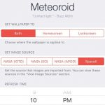 Tweak Meteoroid automatically installs wallpapers from NASA