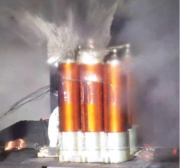 Exploding lithium batteries