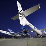 تقوم شركة Virgin Galactic بنقل النشاط إلى Spaceport America. أول رحلة تجارية ستتم قريبًا.