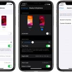 How does the dark mode on iOS 13: screenshots