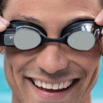 "FORM introduced swimming goggles with the HUD ""FORM Swim Goggles"""