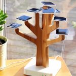 Solar Suntree for the benefit of the environment: bonsai-shaped solar charging