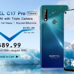 The OUKITEL C17 Pro with a triple camera was priced at $ 89.99. On sale since August 26