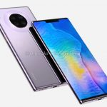 Huawei Mate 30 Pro on high-quality renderings: a round camera with four modules and a display with a cutout for Face Unlock sensors