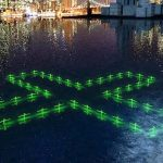 Floating illuminated installations show water quality in New York
