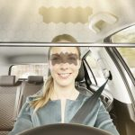 Bosch Virtual Visor: AI visor sun visor with partial transparency and partial dimming