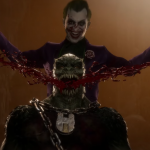 In the new Mortal Kombat 11 trailer, the Joker cuts out Barack's smile and cripples Kitana
