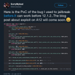 S0rryMyBad shares iOS 12 exploit information