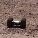 Ukazuje práci ruských vojenských robotů v Sýrii