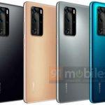 """Huawei P40 Pro na oficiálních tiskových rendrcích: pět barev, """"prosakující"""" obrazovka a čtyřúhelník (aktualizováno)"""