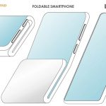 Alibaba patented a new design of a folding smartphone with two folds and an additional display