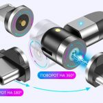 Innovation: USLION magnetic USB cable with swivel head