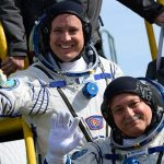 The astronaut returned to Earth after a record 328 days in orbit