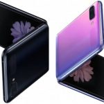 Samsung Galaxy Z Flip lit up on video