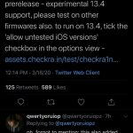 The experimental version of the jailbreak Checkra1n supports iOS 13.4 and Mac with a T2 chip
