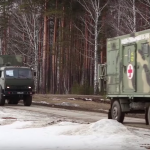 The video showed the teachings of medical special forces of Russia