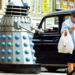 In Britain, the Doctor Who robot roams the streets and reminds citizens to stay home during the coronavirus pandemic