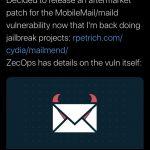MailMend jailbreak tweak fixes Mail application vulnerability