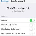 CodeScramber 12 jailbreak tweak shuffles password entry buttons
