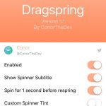 Make respring your device more comfortable with Dragspring tweak