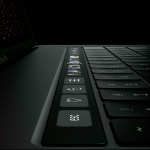 The new thinner and faster MacBook Pro 2016 with a touch panel (Touch Bar) and Touch ID