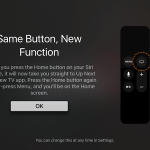 How to change the action of the Home button on the Apple TV remote