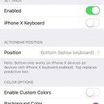 Tweak ActionBar přidává editační nástroje do klávesnice iOS
