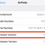 How to find out the firmware version number of your AirPods headphones