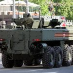 There was a video with the latest Russian armored personnel carrier K-17 caught on fire after the Victory Parade