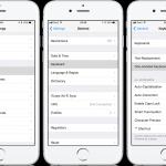Comment utiliser le mode d'impression à une main sur le clavier d'un iPhone avec iOS 11