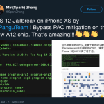 The first successful jailbreak of the iPhone XS