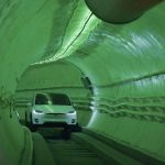 Elon Musk showed what will be the underground Loop tunnel for Tesla cars