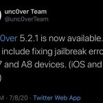 Unc0ver v5.2.1 jailbreak update with bug fixes released