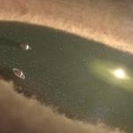 Spiralgas zum ersten Mal um den jungen Stern gefunden