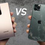 Samsung Galaxy Note 20 Ultra vs iPhone 11 Pro Max v testu pádu: kdo je odolnější?