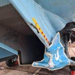 Ukrainian fighter jet shot down a road sign