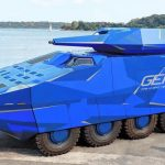 Introduced a hybrid combat vehicle accelerating to 100 km / h
