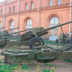 An unsuccessful shot from a Soviet-made cannon was shown on video