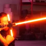 Video of the world's first fully functional Star Wars lightsaber published
