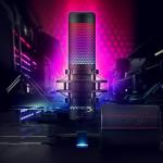 HyperX QuadCast S: USB-suoratoistomikrofoni, jossa dynaamiset RGB-valotehosteet
