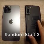 La vidéo comparait l'iPhone 12 Pro Max et le dernier smartphone Samsung Galaxy S21 +
