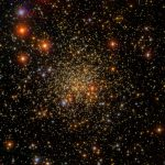 Look at the open cluster of stars. It is 15 thousand light years distant from Earth