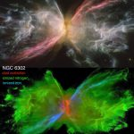 Look at Hubble photos of planetary nebulae