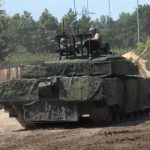 """UK invented camouflage to """"trick"""" drones attacking a tank"""