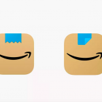 Amazon app icon changed to resemble grinning Hitler