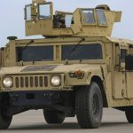 The explosion of the American military off-road vehicle was shown on video