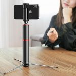 Baseus compact selfie stick with tripod, Bluetooth and remote control for $ 23