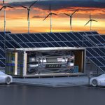 Nuclear microreactors in cargo containers are used to charge electric cars